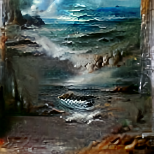 Aleph2Image Gamma - Seascape Oil Painting