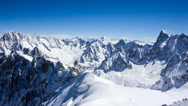 Depuis l'Aiguille du Midi (Chamonix Mont-Blanc, Alpes, France)