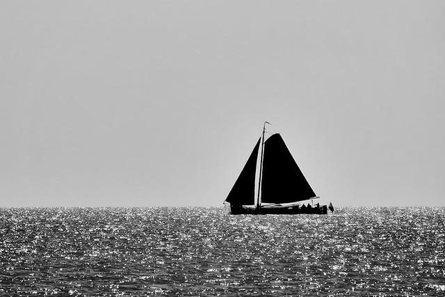 Sailing on a ancient sailing ship