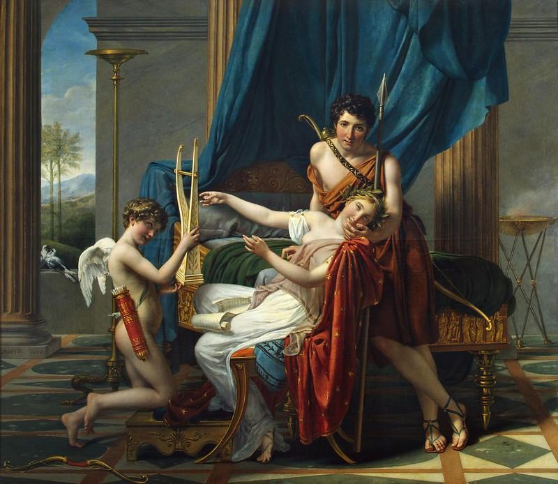 Jacques Louis David (1748-1825) - Sappho and Phaon