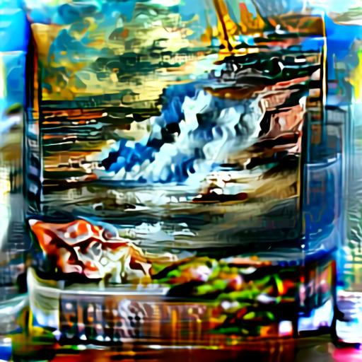 Aleph2Image Delta - Seascape Oil Painting