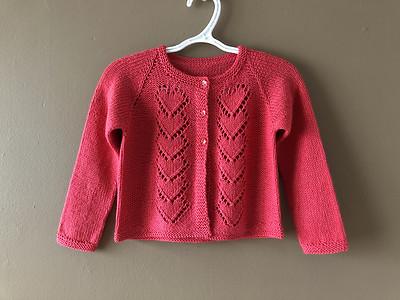 Lise (Mattedcat) knit Juliette by Dani Sunshine for her  older granddaughter who loves hearts!
