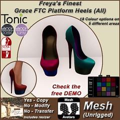 FFJ FTC Grace Platform Heel Shoes (FAT Pack) TEX2