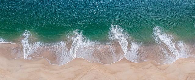 Sea wave sand patterns.