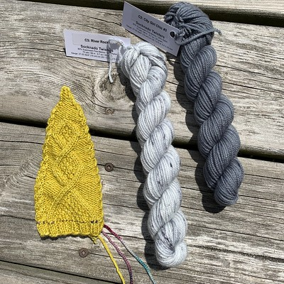 Spoiler alert! Here is my finished Clues 1 and 2 of the Gnot Just Another Gnome MKAL by Sarah Schira.