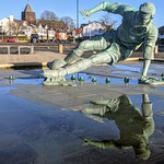 Reflections of Sir Tom Finney at Deepdale, Preston
