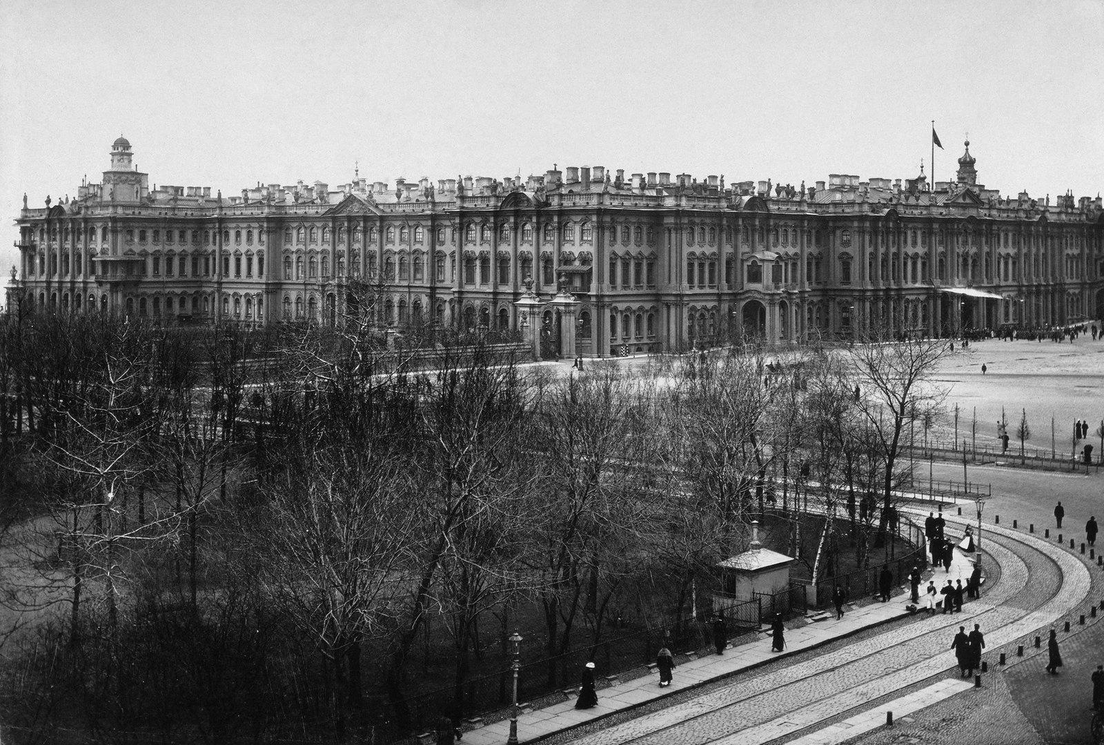 1900-е. Зимний дворец и Александровский сад