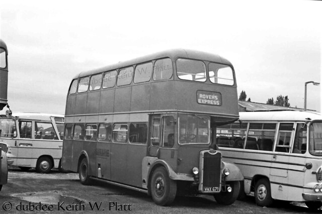 July 1973 WWX671 Guy Arab IV Blue Line at Stainforth depot.