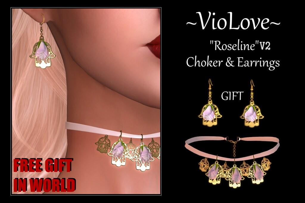 ~VioLove~ FREE GIFT IN WORLD! Roseline V2 – Earrings & Choker