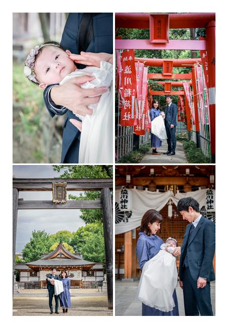 春のお宮参り 愛知県尾張旭市の渋川神社へ ベビードレス