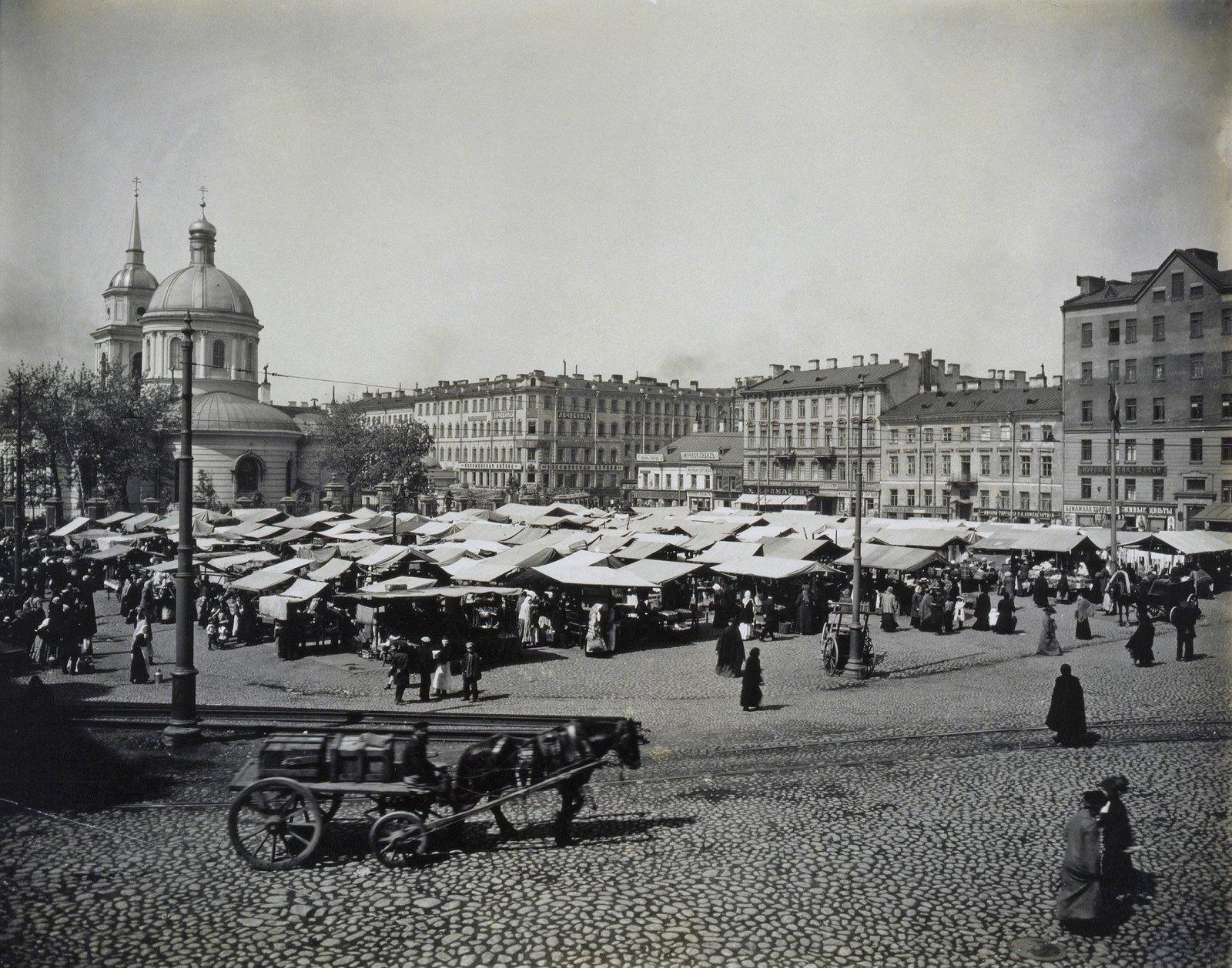 1910-е. Покровский рынок на Покровской площади