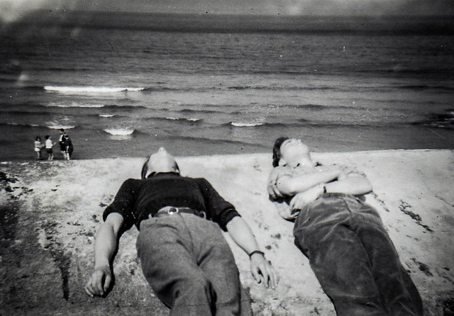 1950s Sunbathing the Old Fashioned Way