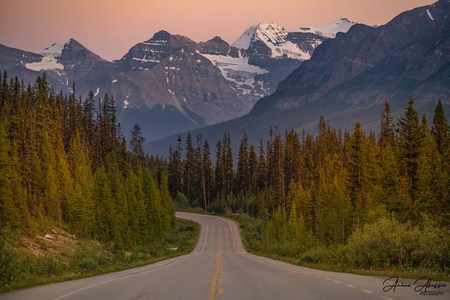 Icefields Parkway Banff Sunset Summer