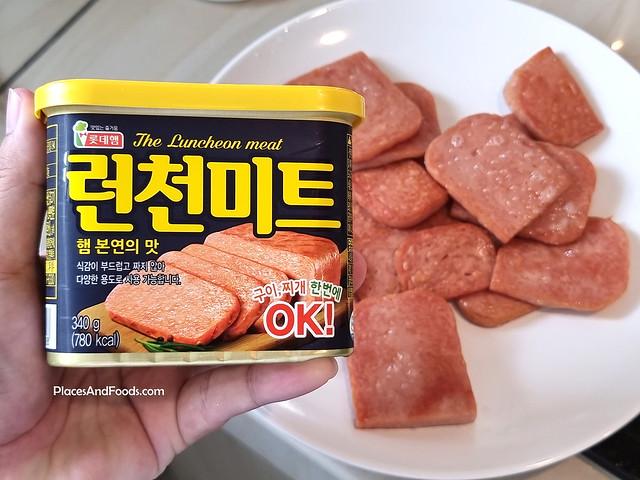 korea lotte brand luncheon meat