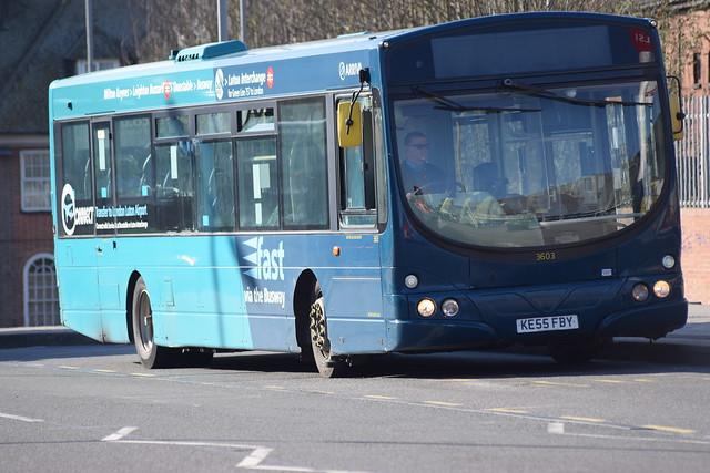 3603 KE55 FBY os Luton Interchange 29-03-21
