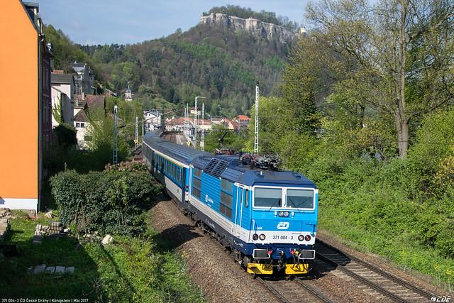 371 004-3 ČD České Dráhy | Königstein | Mai 2017