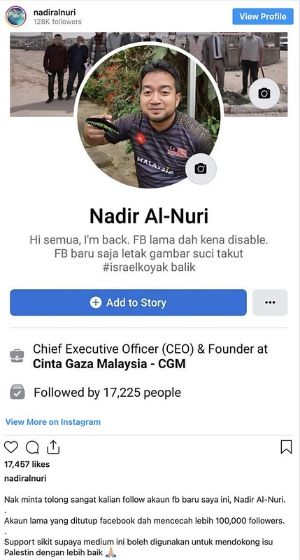 Sering Kongsi Perkembagan Palestin, FB Warga Malaysia Di Gaza Disekat