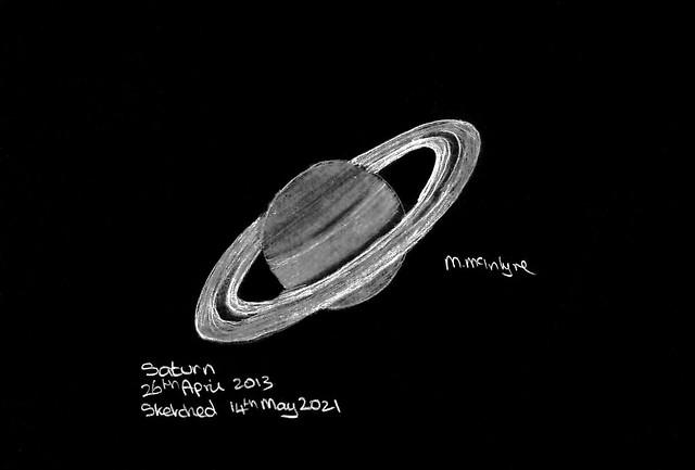 Saturn Pencil Sketch (Inverted)