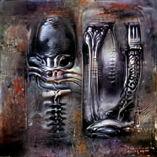 'H R Giger' Aleph2Image Gamma Text-to-Image
