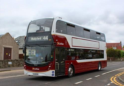 SJ21 MYB 'Lothian Buses' No. 602. Volvo B5TL / Alexander Enviro 400MMC on Dennis Basford's railsroadsrunways.blogspot.co.uk'