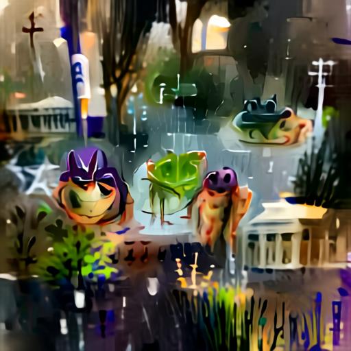 Aleph2Image Delta v2 - Frogs In The Rain