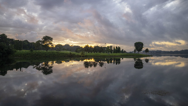 Sunrise with Reflections at Lower Seletar Reservoir