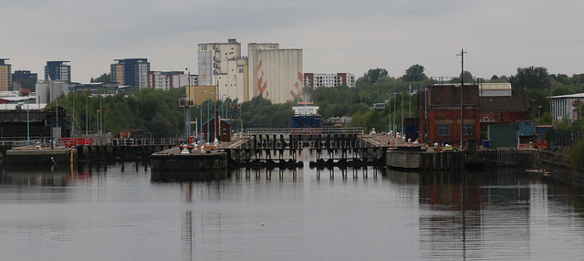 14th May 2021. Maratona, ex-Arkonia. Mode Wheel Locks at Media City UK on the Manchester Ship Canal, Salford Quays, Greater Manchester