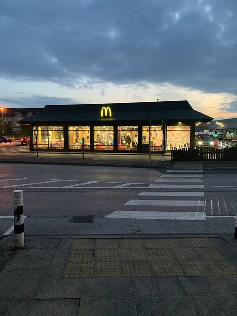 Sun set over the Golden Arches of McDonald's