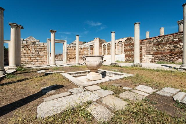 27- Sardis. The Monumental Synagogue - The Forecourt