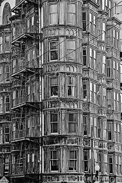 North Beach Building, Monochrome Study ...