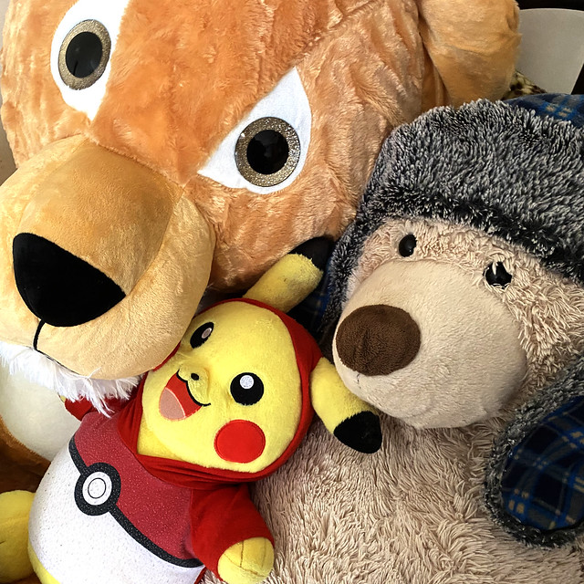 Maxwell, Pikachu, and Big Bear