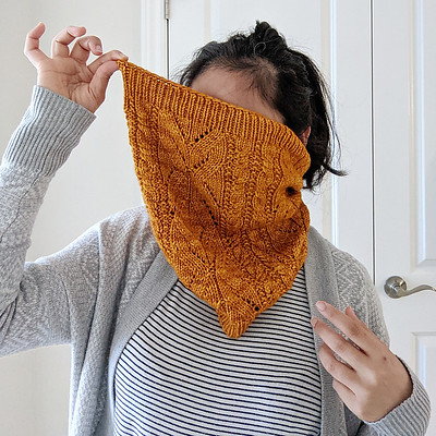 Veronica (@xovee.knits)'s Charcuterie Cowl is now available on Ravelry! She knit this one using Malabrigo Rios!