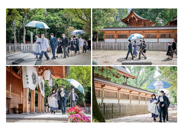 愛知県尾張旭市の渋川神社名物の行列 境内を回る