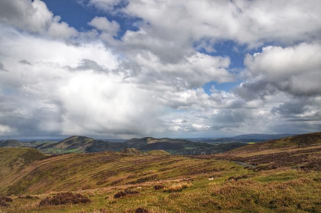 Shropshire landscape near Church Stretton