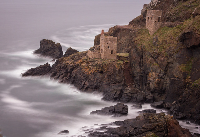 Botallack mines and engine houses