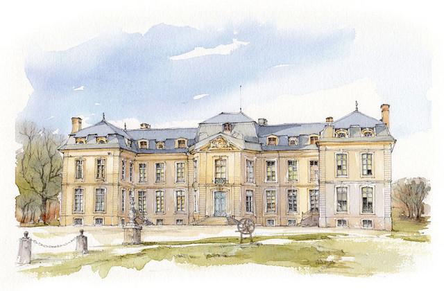 France, Aube, Fouchères, Château de Vaux