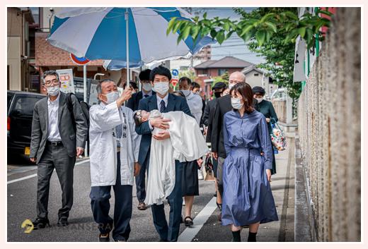 渋川神社名物の行列 境内を回る 愛知県尾張旭市