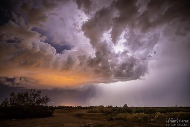 23 September 2019 — West of Phoenix, Arizona — Evening thunderstorm