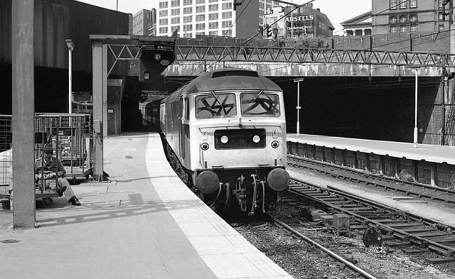 Class 47 47140, Birmingham New Street - 14 Jul 1981
