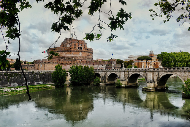 View from south towards the Castel Sant'Angelo and Ponte Sant'Angelo