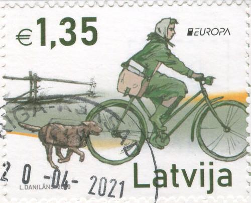 Sello serie Europa de Letonia 2020