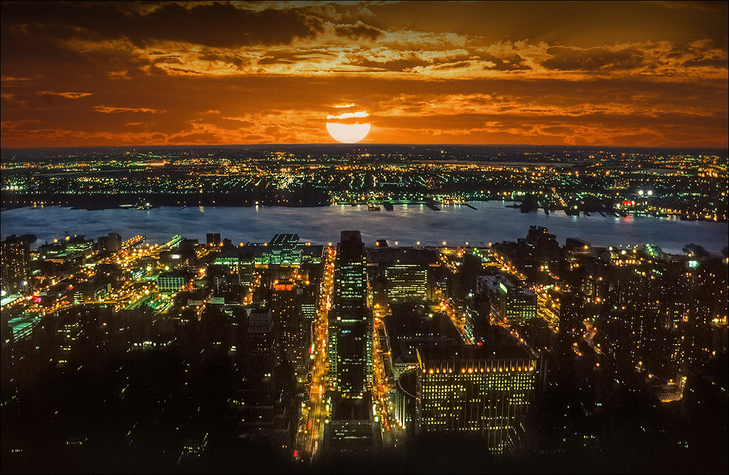 sunset from Empire State Building