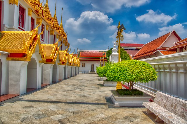 Loha Prasat at Wat Ratchanatdaram Worawihan on Rattanakosin island (Old Town) in Bangkok, Thailand