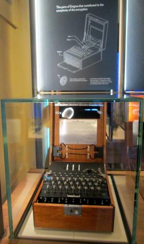 Enigma Machine + Disagram, Bletchley Park