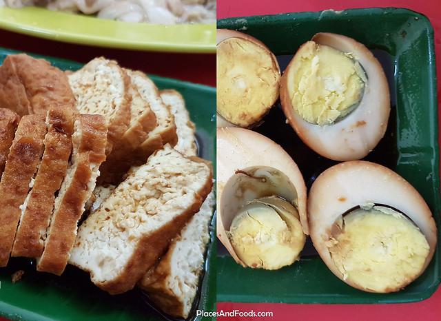 restoran wilson chicken rice braised tofu and egg