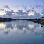 Cloudy sunset at Preston Docks