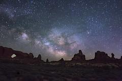 Rising Milky Way at Arches
