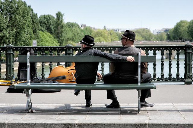 Les musiciens font la pause // The musicians make a break