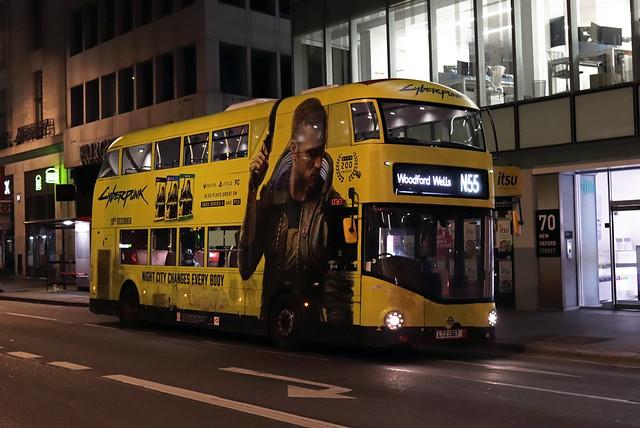 Route N55, Stagecoach London, LT367, LTZ1367