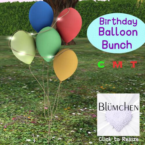 Blumchen Birthday Balloon Bunch C Ad